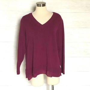Lane Bryant Top Women Size 14 16 Thin Knit Sweater